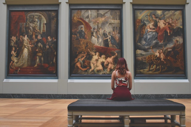 Woman in Art Museum